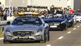 Mercedes-Benz CAR-nage! Burnouts - onboard - F1 & DTM!