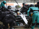 Mercedes-AMG Petronas Motorsport, Lewis Hamilton in the pit
