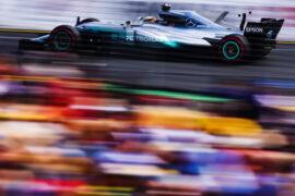 Lewis Hamilton Mercedes W08 on speed Australian GP F1/2017