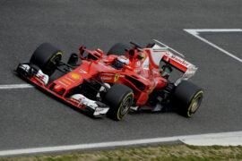 Kimi Raikkonen, Ferrari SF70H testing Catalunya Circuit, Spain