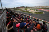 Test 2 day 2 Pascal Wehrlein (D), Sauber F1 Team. Circuit de Catalunya. going in turn 10
