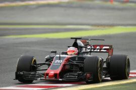 Kevin Magnussen Haas VF-17 f1 testing Circuit de Barcelona Catalunya, Barcelona, Spain.