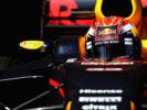 Max Verstappen Red Bull-TAG Heuer RB13 TAG Heuer leaves the garage during the final day of F1 winter testing at Circuit de Catalunya, Spain.