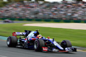 Carlos Sainz of Scuderia Toro Rosso STR12 on track during qualifying for the Australian Formula One Grand Prix at Albert Park on March 25, 2017 in Melbourne.