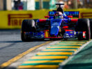 Daniil Kvyat of Scuderia Toro Rosso STR12 during the Australian Formula One Grand Prix at Albert Park on March 26, 2017 in Melbourne.