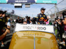 Daniel Ricciardo of Red Bull Racing on the drivers parade before the Australian Formula One Grand Prix at Albert Park on March 26, 2017 in Melbourne.