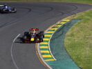 Daniel Ricciardo driving the Red Bull RB13 leads Antonio Giovinazzi of Italy driving the (36) Sauber F1 Team Sauber C36 Ferrari on track during the Australian Formula One Grand Prix at Albert Park on March 26, 2017 in Melbourne