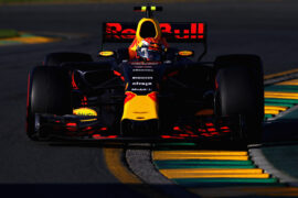 Max Verstappen driving the (33) Red Bull Racing Red Bull-TAG Heuer RB13 TAG Heuer on track during the Australian Formula One Grand Prix at Albert Park on March 26, 2017 in Melbourne.