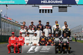 The drivers' start of season group photograph. Australian Grand Prix, Sunday 26th March 2017. Albert Park, Melbourne, Australia.