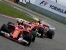 Kimi Raikkonen & Sebastian Vettel Ferrari SF70H GP CHINA F1/2017