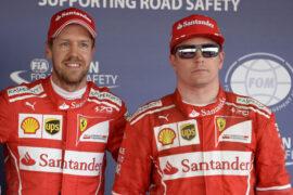 Sebastian Vettel & Kimi Raikkonen score their first 1-2 quali at Sochi