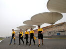 Sergey Sirotkin Renault Sport F1 Team Third Driver walks the circuit with the team. Chinese Grand Prix, Thursday 6th April 2017. Shanghai, China.
