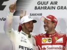 Formula One - Mercedes-AMG Petronas Motorsport, Bahrain GP 2017. Lewis Hamilton; Sebastian Vettel Ferrari