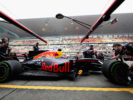 Daniel Ricciardo of Red Bull Racing Red Bull-TAG Heuer RB13 TAG Heuer comes into the pits during practice for the Formula One Grand Prix of China at Shanghai International Circuit on April 7, 2017 in Shanghai, China.