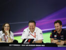 Press conference with Williams Deputy Team Principal Claire Williams, McLaren Executive Director Zak Brown and Red Bull Racing Team Principal Christian Horner during practice for the Bahrain F1/GP at Bahrain