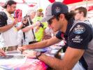 Carlos Sainz during qualifying for the Bahrain Formula One Grand Prix at Bahrain International Circuit on April 15, 2017 in Bahrain, Bahrain.