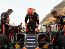 Max Verstappen of Netherlands and Red Bull Racing on the grid before the Bahrain Formula One Grand Prix at Bahrain International Circuit on April 16, 2017 in Bahrain, Bahrain.