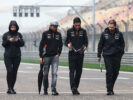 Sergio Perez Sahara Force India F1 walks the circuit with the team. Chinese GP, Thursday 6th April 2017. Shanghai, China.