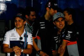 Massa & Perez crash Canadian GP 2014