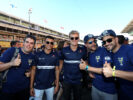 Pascal Wehrlein (D), Sauber F1 Team. Marcus Ericsson (SWE), Sauber F1 Team with some FIA Volunteers. Circuit de Catalunya. Spanish GP F1/2017