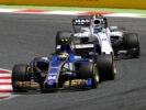 Pascal Wehrlein Sauber & Felipe Massa Williams on track at Spanish GP F1/2017
