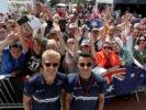 Marcus Ericsson (SWE), Sauber F1 Team. Pascal Wehrlein (D), Sauber F1 Team Monaco Street Circuit autograph session. 2017