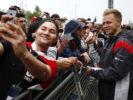 Kevin Magnussen with Fans at Circuit de Catalunya, Barcelona, Spain. Thursday 11 May 2017.Circuit de Catalunya, Barcelona, Spain. Thursday 11 May 2017.