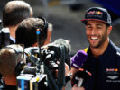 Daniel Ricciardo of Australia and Red Bull Racing talks to the media during previews to the Formula One Grand Prix of Russia on April 27, 2017 in Sochi, Russia.