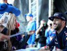 Daniel Ricciardo of Australia and Red Bull Racing signs autographs for fans during previews to the Formula One Grand Prix of Russia on April 27, 2017 in Sochi, Russia.