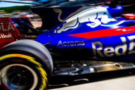 Carlos Sainz of Scuderia Toro Rosso and Spain during practice for the Formula One Grand Prix of Russia on April 28, 2017 in Sochi, Russia.