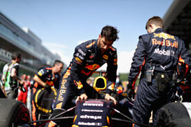 Daniel Ricciardo of Australia and Red Bull Racing on the grid during the Formula One Grand Prix of Russia on April 30, 2017 in Sochi, Russia.