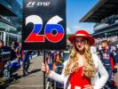 Scuderia Toro Rosso grid girls during the Formula One Grand Prix of Russia on April 30, 2017 in Sochi, Russia.