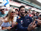 Daniel Ricciardo of Red Bull Racing poses for a photo with a fan during previews for the Spanish Formula One Grand Prix at Circuit de Catalunya on May 11, 2017 in Montmelo, Spain.