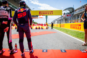 Carlos Sainz of Scuderia Toro Rosso and Spain during the Spanish Formula One Grand Prix at Circuit de Catalunya on May 14, 2017 in Montmelo, Spain.