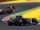 Carlos Sainz of Spain driving the (55) Scuderia Toro Rosso STR12 on track during the Spanish Formula One Grand Prix at Circuit de Catalunya on May 14, 2017 in Montmelo, Spain.