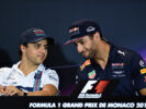 Felipe Massa of Brazil and Williams and Daniel Ricciardo of Australia and Red Bull Racing talk in the Drivers Press Conference during previews for the Monaco Formula One Grand Prix at Circuit de Monaco on May 24, 2017 in Monte-Carlo, Monaco.