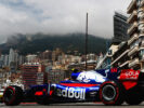 Carlos Sainz of Spain driving the (55) Scuderia Toro Rosso STR12 on track during practice for the Monaco Formula One Grand Prix at Circuit de Monaco on May 25, 2017 in Monte-Carlo, Monaco.