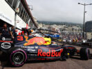 Daniel Ricciardo of Australia driving the (3) Red Bull Racing Red Bull-TAG Heuer RB13 TAG Heuer leaves the garage during practice for the Monaco Formula One Grand Prix at Circuit de Monaco on May 25, 2017 in Monte-Carlo, Monaco.