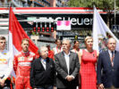 Prince Albert II of Monaco, Princess Charlene of Monaco, Max Verstappen of Netherlands and Red Bull Racing, Sebastian Vettel of Germany and Ferrari, FIA President Jean Todt, and Chase Carey, CEO and Executive Chairman of the Formula One Group on the grid during the Monaco Formula One Grand Prix at Circuit de Monaco on May 28, 2017 in Monte-Carlo, Monaco.