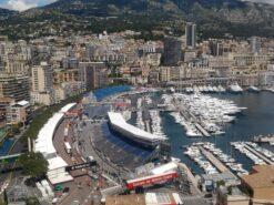 Monaco harbour with pit complex.