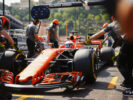 Monte Carlo, Monaco. Thursday 25 May 2017. Jenson Button, McLaren MCL32 Honda, in the pits.