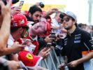 Sergio Perez (MEX) Sahara Force India F1 with fans. Spanish Grand Prix, Thursday 11th May 2017. Barcelona, Spain.