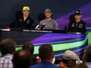 The FIA Press Conference (L to R): Nico Hulkenberg (GER) Renault Sport F1 Team; Jenson Button (GBR) McLaren; Esteban Ocon (FRA) Sahara Force India F1 Team. Monaco Grand Prix, Wednesday 24th May 2017. Monte Carlo, Monaco.