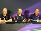 The FIA Press Conference (L to R): Andrew Green (GBR) Sahara Force India F1 Team Technical Director; Paul Monaghan (GBR) Red Bull Racing Chief Engineer; Jorg Zander (GER) Sauber F1 Team Technical Director. Monaco Grand Prix, Thursday 25th May 2017. Monte Carlo, Monaco.