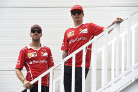 Sebastian Vettel & Kimi Raikkonen Ferrari GP ARZEBAIJAN F1/2017