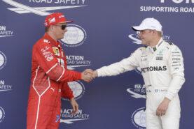 Kimi Raikkonen Ferrari & Valtteri Bottas Mercedes GP AZERBAIJAN F1/2017