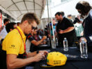 Nico Hulkenberg (GER) Renault Sport F1 Team signs autographs for the fans. Canadian Grand Prix, Thursday 8th June 2017. Montreal, Canada.