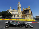 Kevin Magnussen on speed Baku City Circuit, Baku, Azerbaijan. Saturday 24 June 2017. Kevin Magnussen, Haas VF-17 Ferrari.