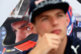 Max Verstappen of Netherlands and Red Bull Racing talks to the media in the Paddock during previews for the Canadian Formula One Grand Prix at Circuit Gilles Villeneuve on June 8, 2017 in Montreal, Canada.