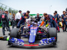Daniil Kvyat of Scuderia Toro Rosso during the Canadian Formula One Grand Prix at Circuit Gilles Villeneuve on June 11, 2017 in Montreal, Canada.